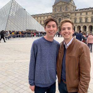 Trevor Hoffman and Blake Pawley in Paris, France.